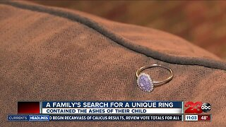 Family searches for missing ring containing their daughter's ashes