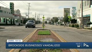 Brookside Businesses Vandalized While Trying To Stay Afloat