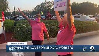 community parade at Lawnwood Regional Medical Center