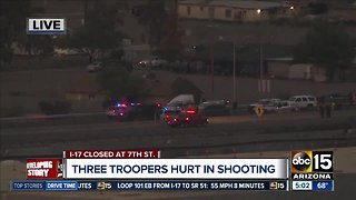 Multiple first responders injured during shooting on I-17