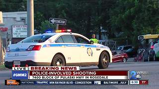 Baltimore County Police investigate officer-involved shooting in Rosedale