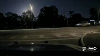 Deputy's camera captures meteor during traffic stop