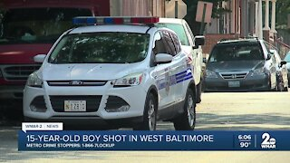 15 year old shot listed in critical condition