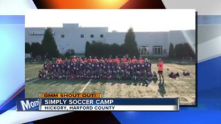Good morning from the Simply Soccer Camp!