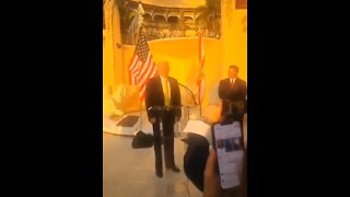 Trump ROASTS Biden For Falling Up The Stairs