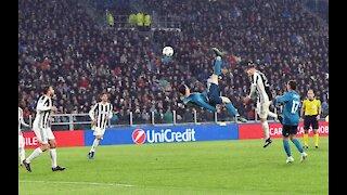 cristiano Ronaldo real Madrid vs Juventus bike