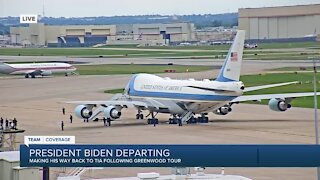 Pres. Biden departs Tulsa International Airport