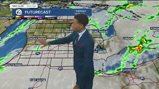 More showers possible tonight