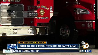 San Diego Fire-Rescue increasing crews ahead of fire weather