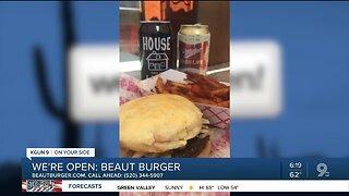 Beaut Burger sells burgers, sides