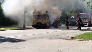 City vehicle fully engulfed in flames near 27th & Cleveland