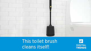 Goodpapa is a self-sanitizing toilet brush that cleans itself with UV-C light