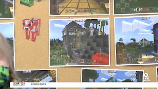 Students with autism connecting, building community, in Minecraft