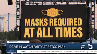Padres drive-in watch party downtown
