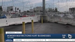 Border travel restrictions extended, businesses hurting