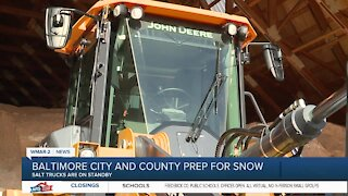 Baltimore City and County prep for snow