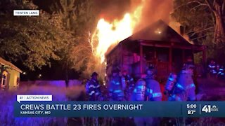 KCFD battles 23 fires overnight, including large house fire