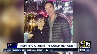 Woman inspiring others through grief