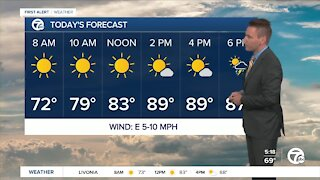 Metro Detroit forecast: Another hot & humid day