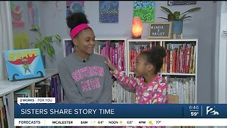Sisters Share Story Time