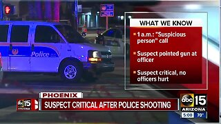 Suspect in critical condition after officer-involved shooting