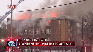 Apartment fire on Detroit's west side