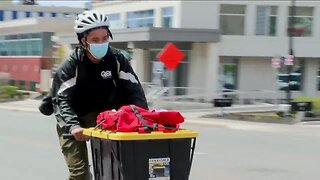 Helping those in need, Queen City Couriers providing bike delivery service for their neighbors