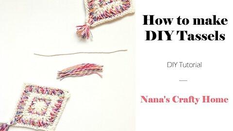 DIY How to Make a Simple Tassel Tutorial
