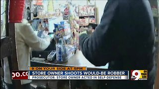Store owner shoots would-be robber