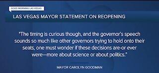 Las Vegas mayor statement on reopening