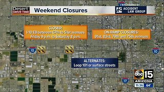 Weekend traffic closures March 23-25