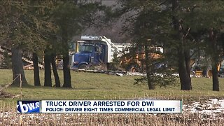 Truck driver arrested for DWI