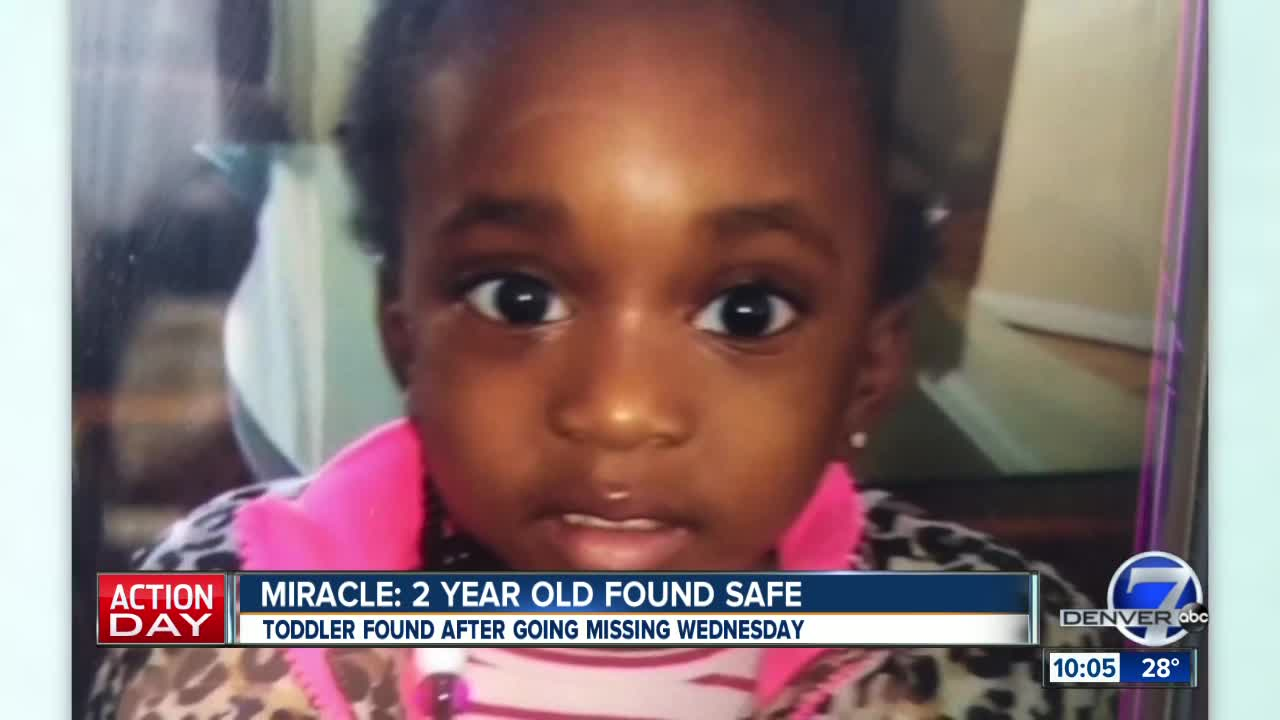 2-year-old girl from Aurora who went missing Wednesday found safe