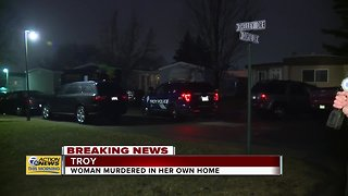 Woman found murdered inside mobile home in Troy