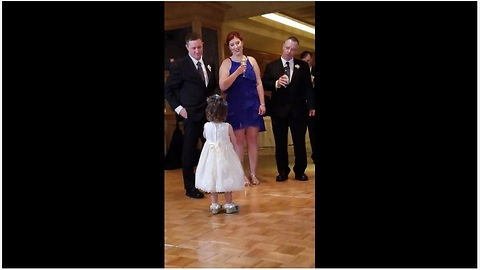 Adorable Flower Girl Gives Precious Speech At A Wedding