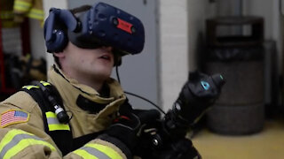 Fire Department Uses Virtual Reality for Training
