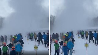 Snow twister in Vermont totally engulfs skiers