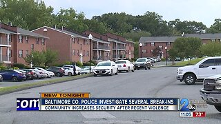 Police investigating several break-ins throughout Baltimore County