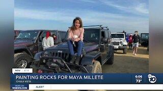 Painting rocks for missing mom Maya Millete