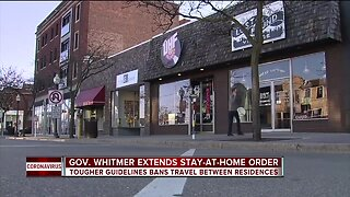 Gov. Whitmer extends stay-at-home order