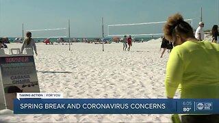 Spring break and coronavirus concerns in Tampa Bay