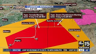 Tornado Warning in effect for Apache Junction area