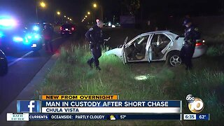 Driver arrested after chase in Chula Vista