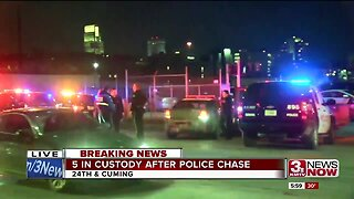 5 arrested in Omaha police pursuit
