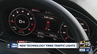 New technology times traffic lights for drivers
