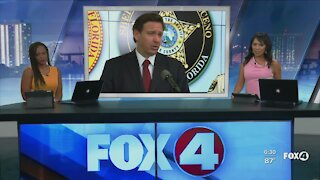 DeSantis visits Fort Myers to announce bonus for first responders