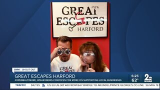 """Great Escapes Harford says """"We're Open Baltimore!"""""""