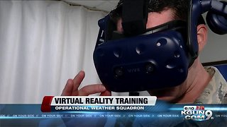 Weather Airmen training with Virtual Reality