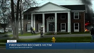 Volunteer firefighter helped save neighbor from apartment fire