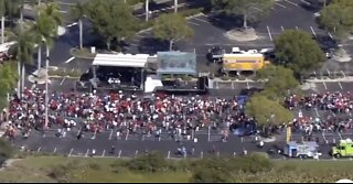 Crowds gather ahead of President Trump's rally